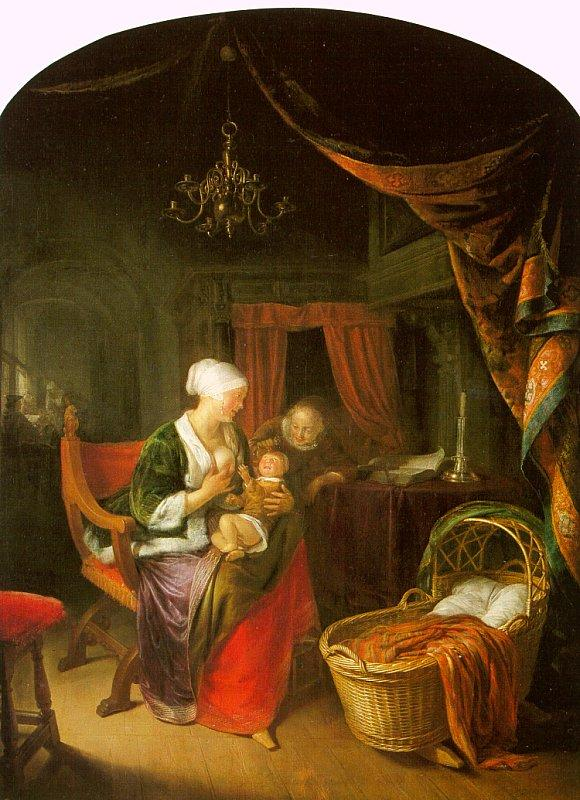Gerrit Dou The Young Mother oil painting image