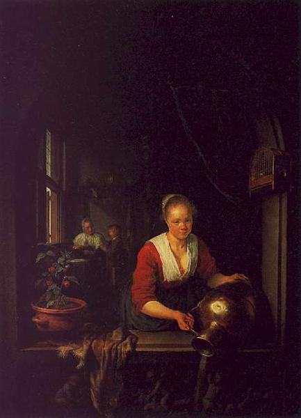 Gerrit Dou Maidservant at the Window oil painting image