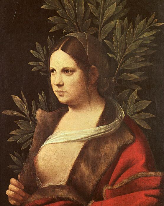 Giorgione Laura oil painting image