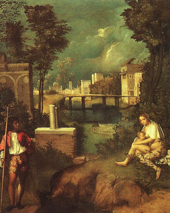 Giorgione The Tempest oil painting image
