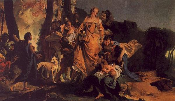 Giovanni Battista Tiepolo The Finding of Moses oil painting image