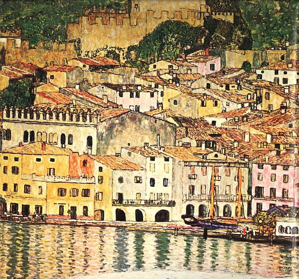 Gustav Klimt Malcesine on Lake Garda oil painting image