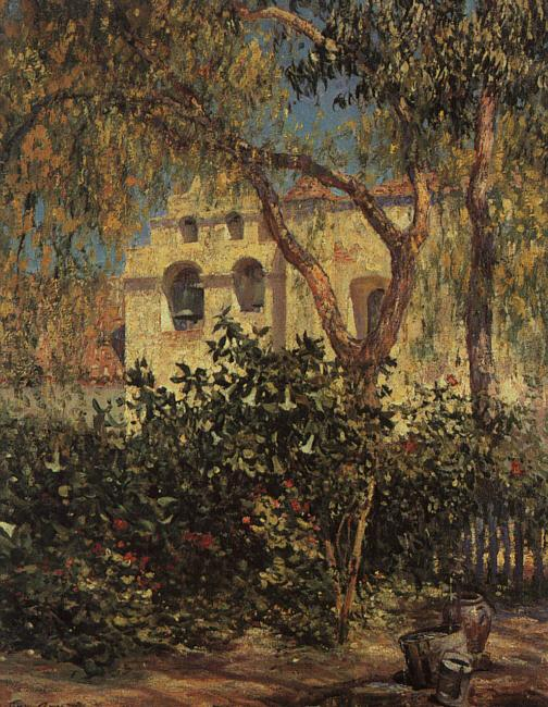 Guy Rose San Gabriel Mission oil painting image