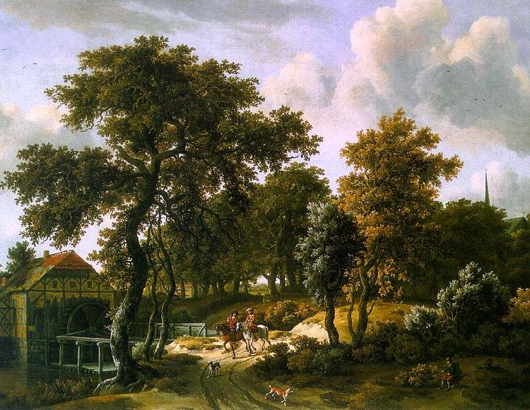 HOBBEMA, Meyndert The Travelers f oil painting image