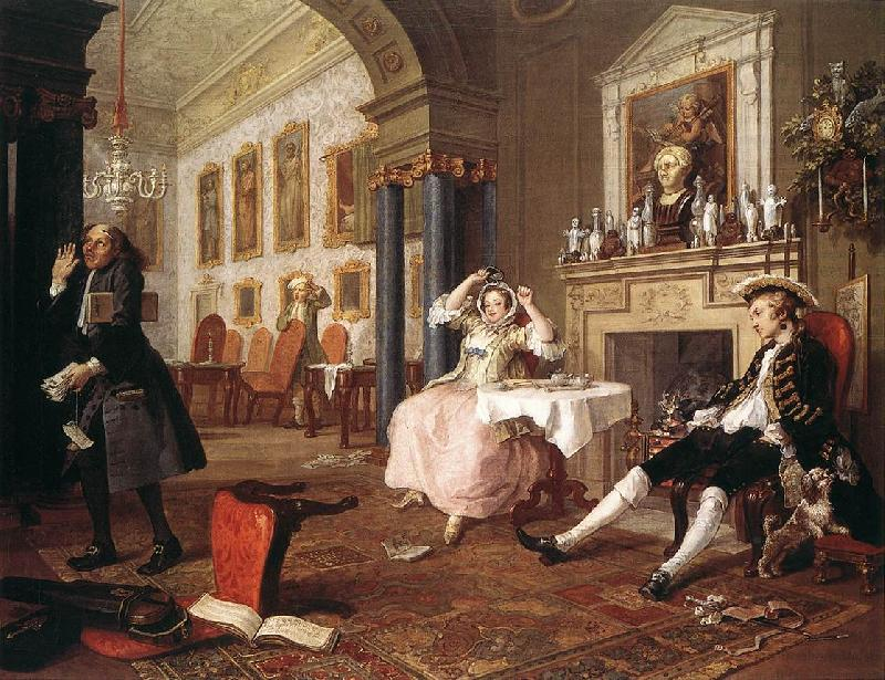HOGARTH, William Marriage a la Mode  4 oil painting image