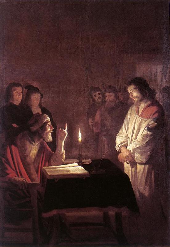 HONTHORST, Gerrit van Christ before the High Priest sg oil painting image