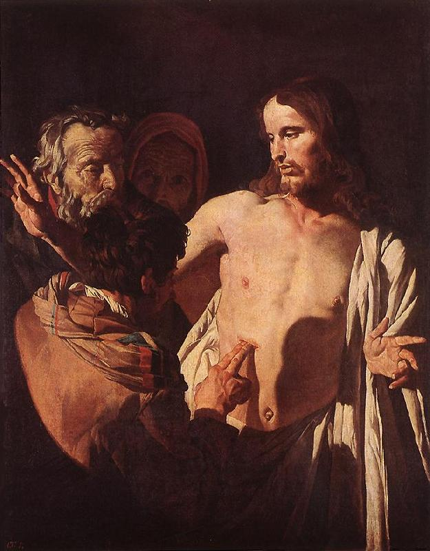 HONTHORST, Gerrit van The Incredulity of St Thomas sdg oil painting image