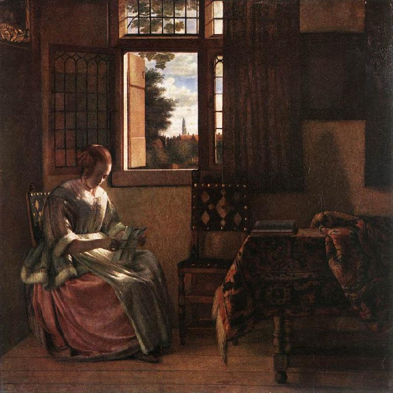 HOOCH, Pieter de Woman Reading a Letter s oil painting image