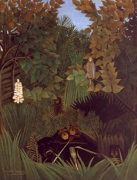 Henri Rousseau The Monkeys oil painting image