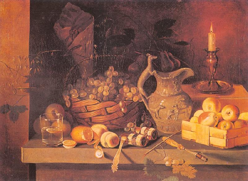 Ivan Khrutsky Still Life with a Candle oil painting image