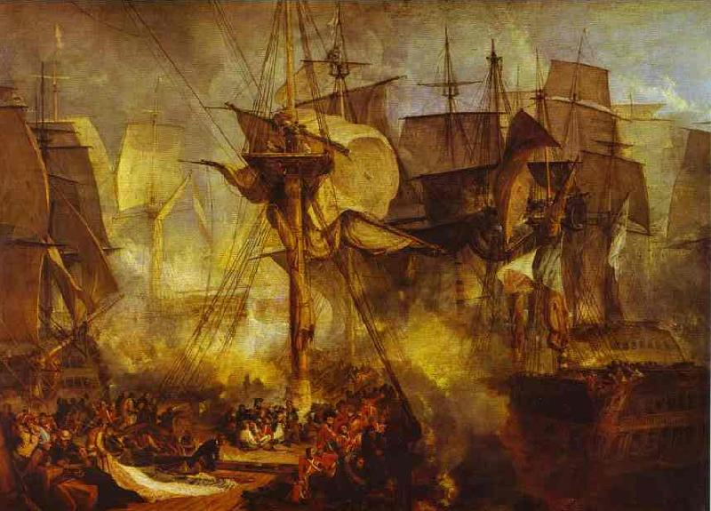 J.M.W. Turner Battle of Trafalgar as Seen from the Mizen Starboard Shrouds of the Victory