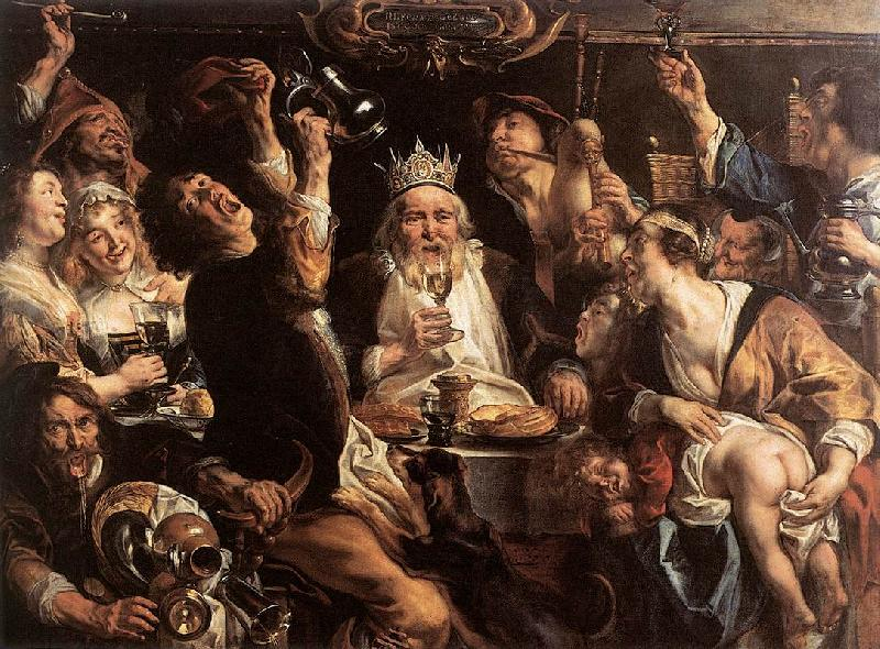 JORDAENS, Jacob The King Drinks s oil painting image