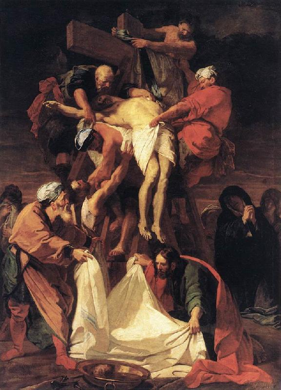 JOUVENET, Jean-Baptiste Descent from the Cross s oil painting image