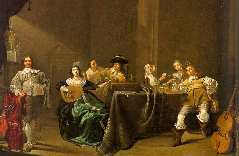 Jacob Duck Card Players and Merry Makers oil painting image
