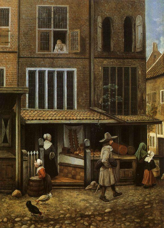 Jacobus Vrel Street Scene with Bakery oil painting image