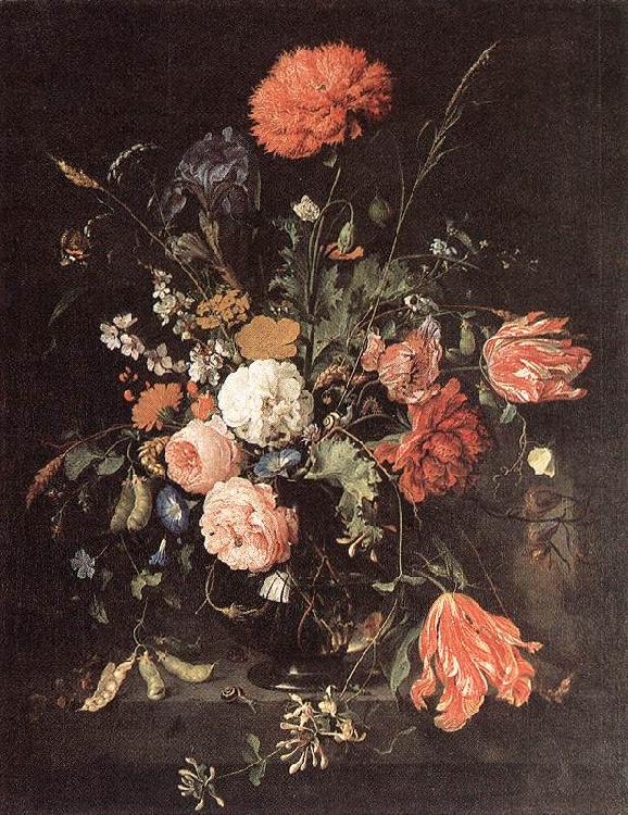 Jan Davidsz. de Heem Vase of Flowers oil painting image