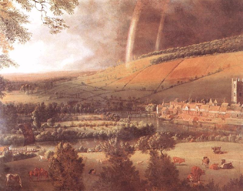 Jan Siberechts Landscape with Rainbow, Henley -on-Thames