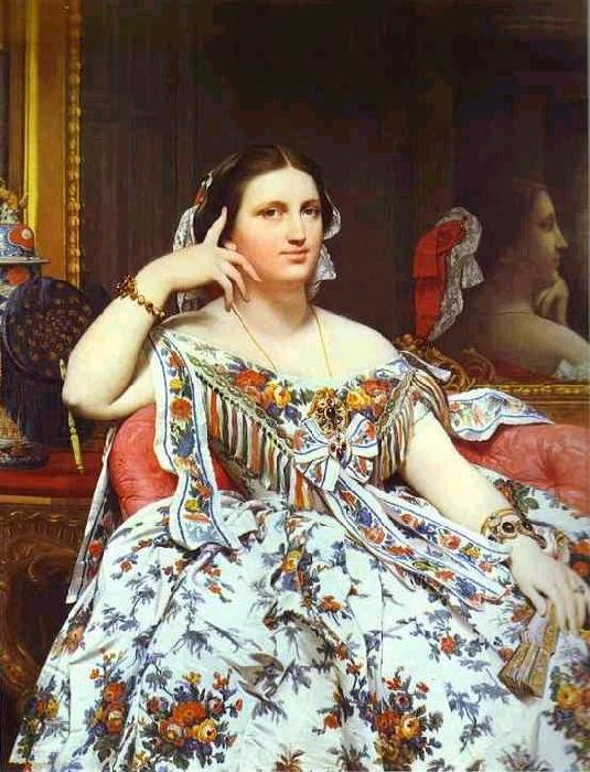 Jean Auguste Dominique Ingres Portrait of Madame Moitessier Sitting. oil painting image