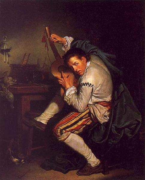 Jean Baptiste Greuze The Guitarist oil painting image