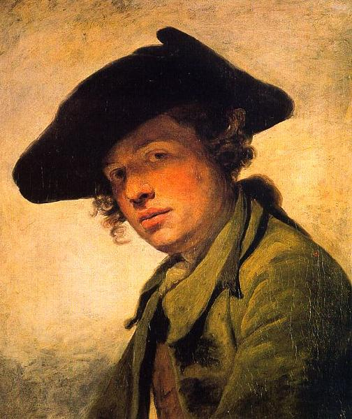 Jean Baptiste Greuze A Young Man in a Hat oil painting image