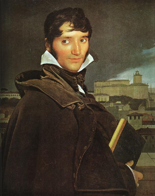 Jean-Auguste Dominique Ingres Portrait of Francois Marius Granet oil painting image