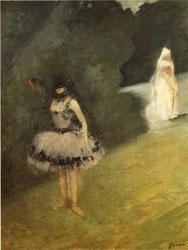 Jean-Louis Forain Dancer Standing behind a Stage Prop