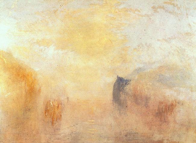 Joseph Mallord William Turner Sunrise Between Two Headlands oil painting image