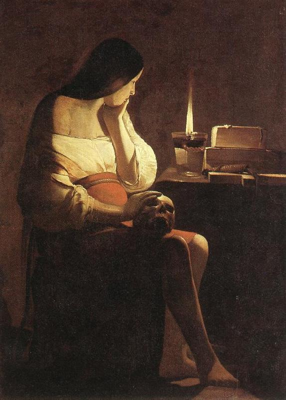 LA TOUR, Georges de Magdalen with the Smoking Flame f oil painting image