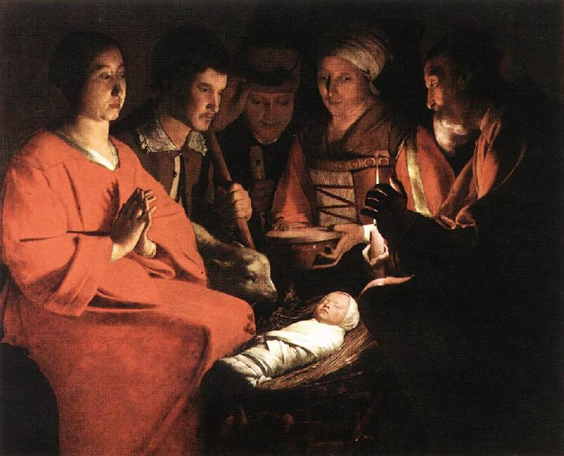 LA TOUR, Georges de The New-born sg oil painting image