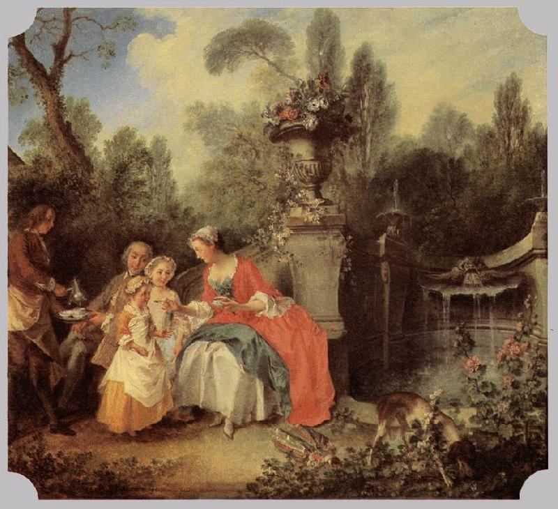 LANCRET, Nicolas Luncheon Party sg oil painting image