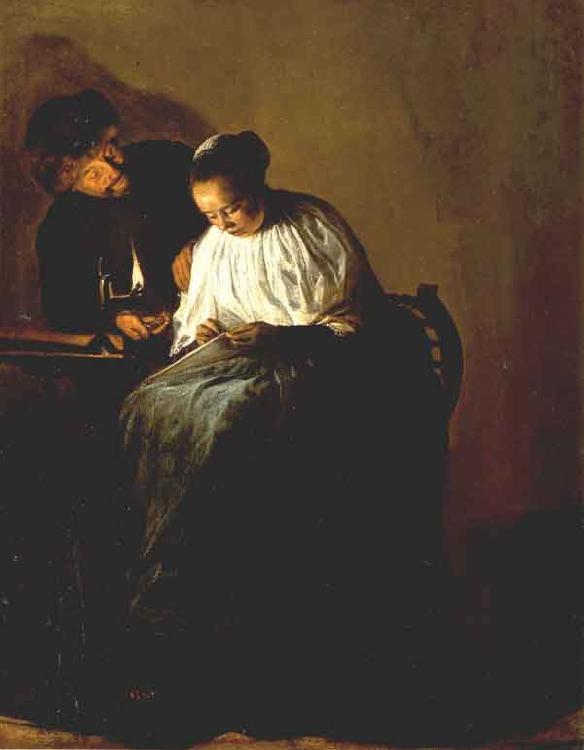 LEYSTER, Judith The Proposition g oil painting image