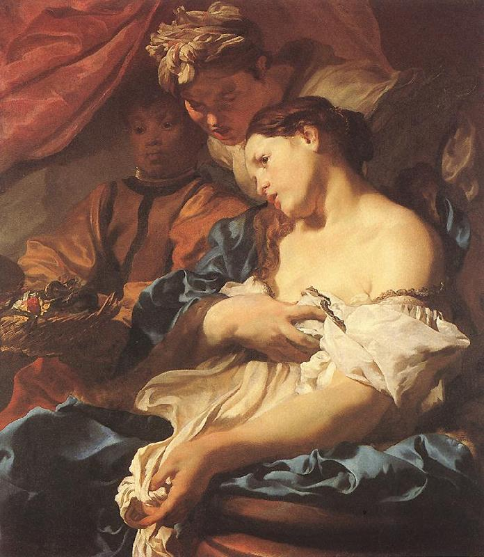 LISS, Johann The Death of Cleopatra sg oil painting image