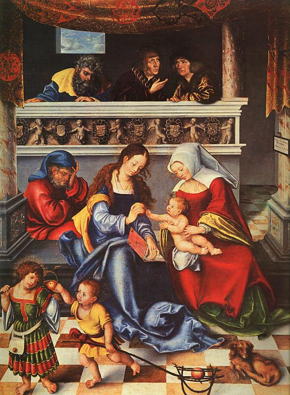 Lucas  Cranach The Holy Family oil painting image