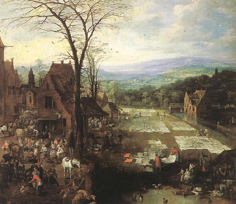MOMPER, Joos de Flemish Market and Washing Place sg oil painting image