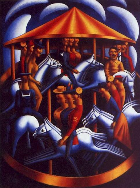 Mark Gertler The Merry Go Round oil painting image