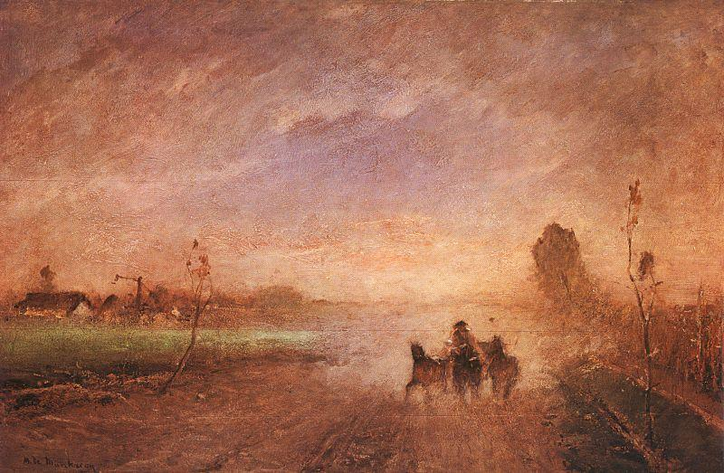 Mihaly Munkacsy Dusty Road I oil painting image