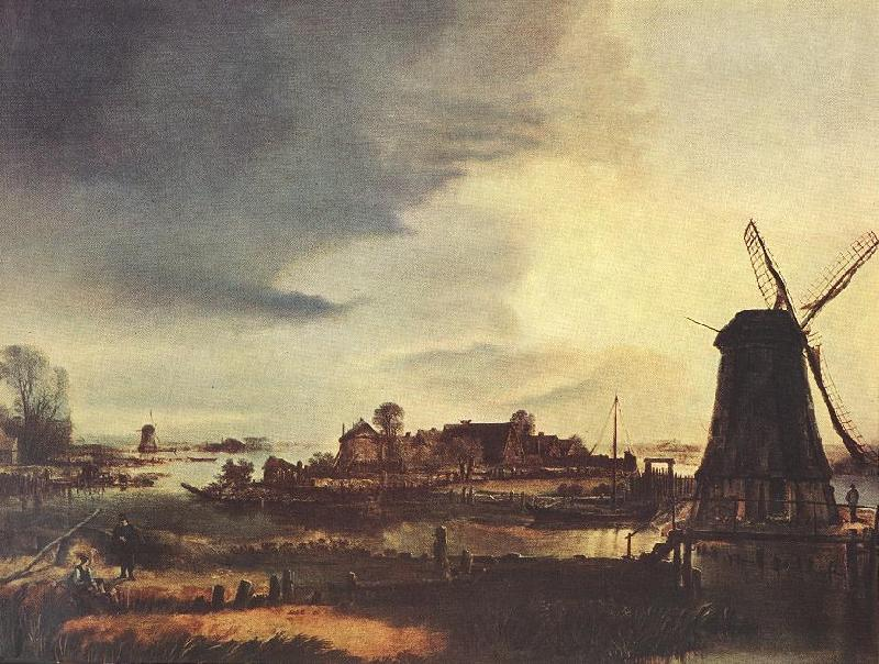 NEER, Aert van der Landscape with Windmill sg oil painting image