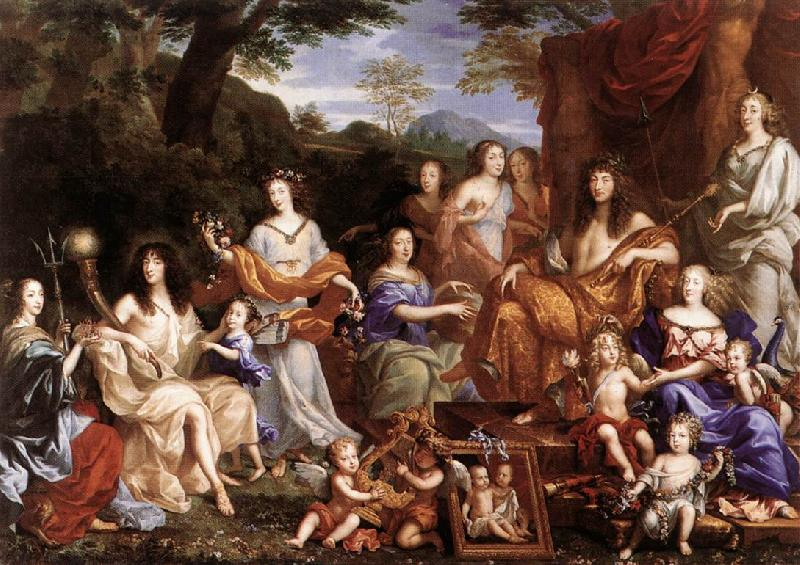 NOCRET, Jean The Family of Louis XIV a oil painting image
