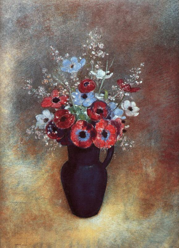Odilon Redon Amemones oil painting image
