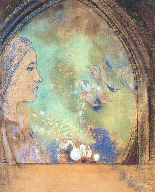 Odilon Redon Profile in an Arch oil painting image
