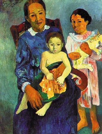 Paul Gauguin Tahitian Woman with Children 4 oil painting image