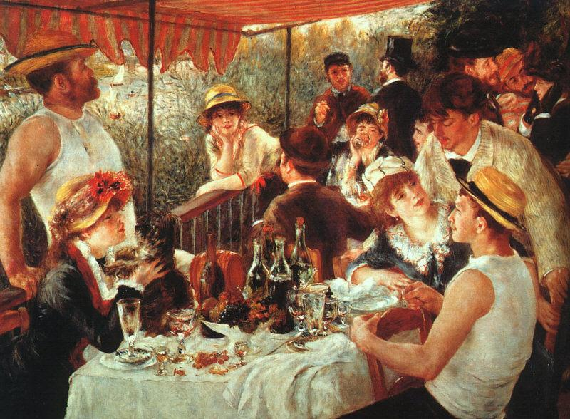 Pierre Renoir Luncheon of the Boating Party oil painting image