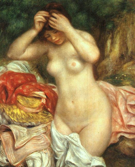 Pierre Renoir Bather Arranging her Hair oil painting image