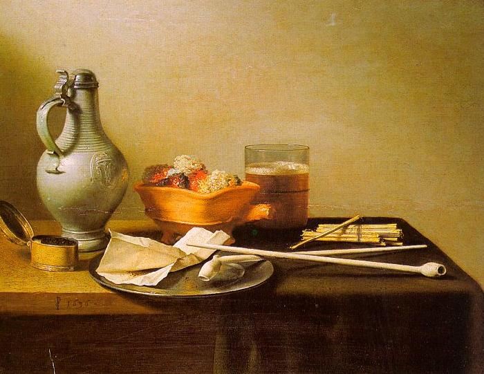 Pieter Claesz Pipes and Brazier
