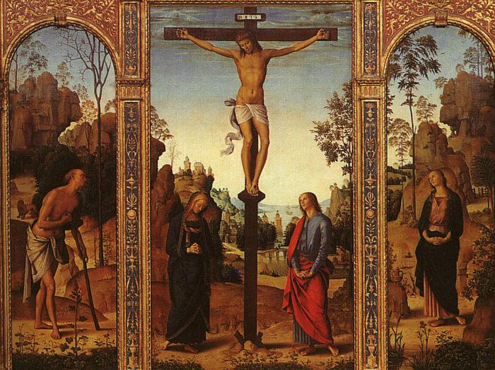 Pietro Perugino The Crucifixion with The Virgin, St.John, St.Jerome St.Magdalene oil painting image