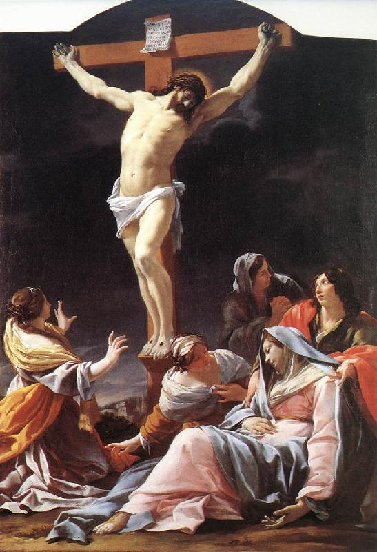 Simon Vouet Crucifixion  qwr oil painting image