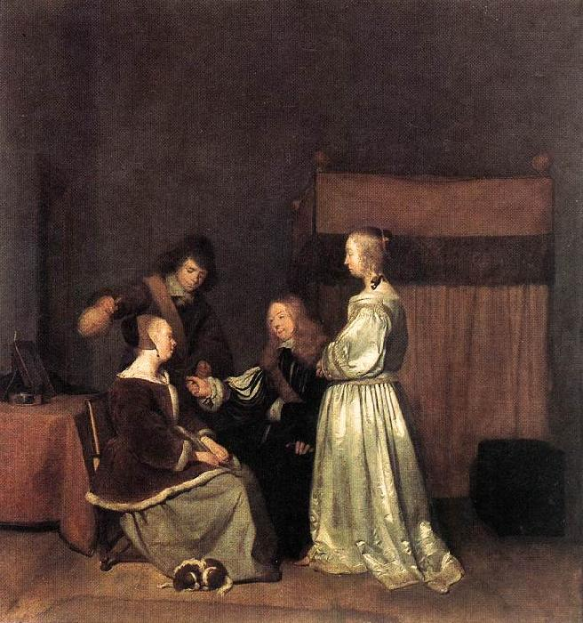 TERBORCH, Gerard The Visit qet oil painting image