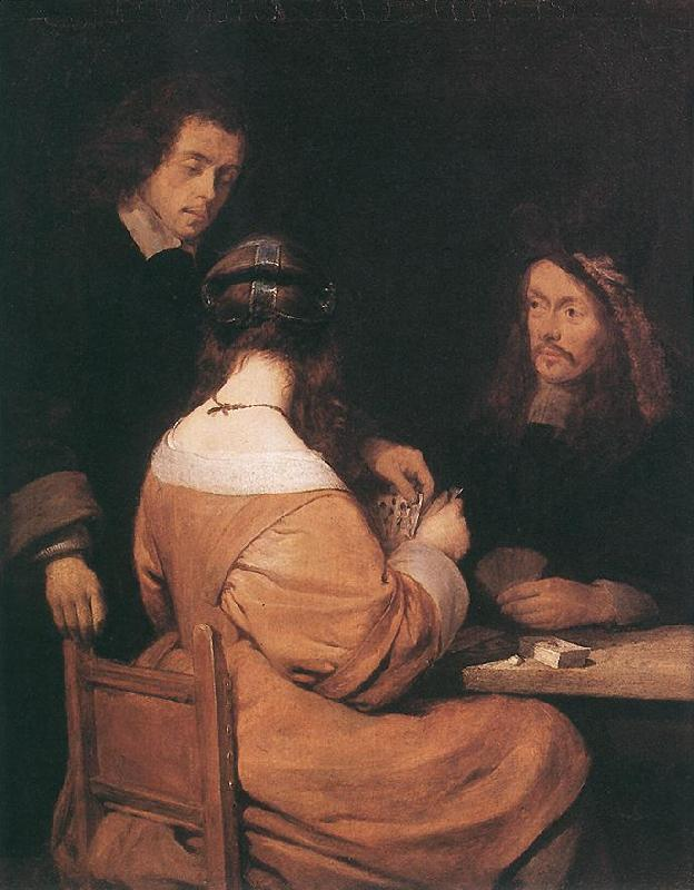 TERBORCH, Gerard Card-Players awr oil painting image
