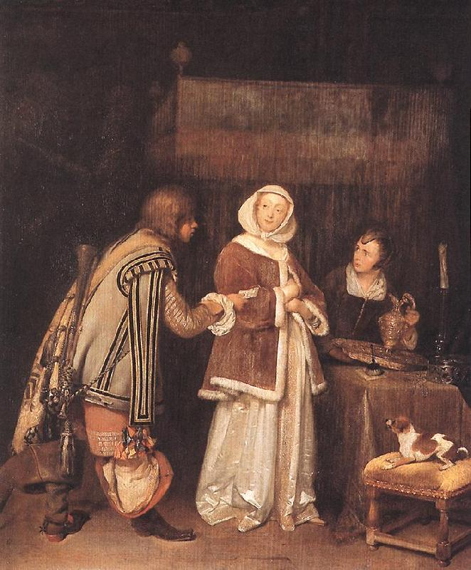 TERBORCH, Gerard The Letter dh