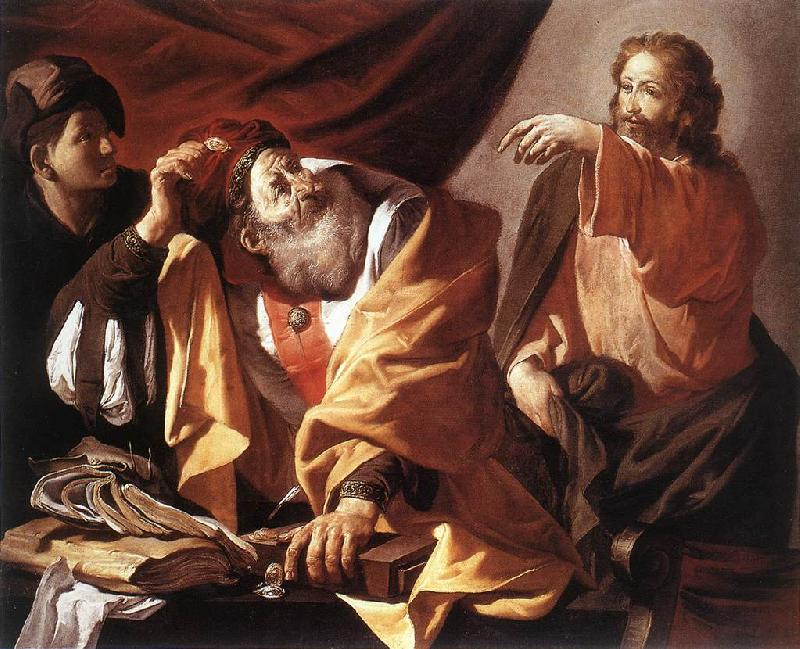 TERBRUGGHEN, Hendrick The Calling of St Matthew r oil painting image